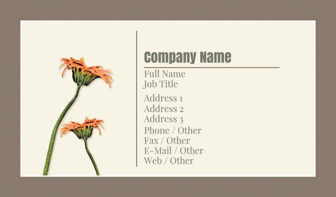 Brown and Beige Florist Business Card Template